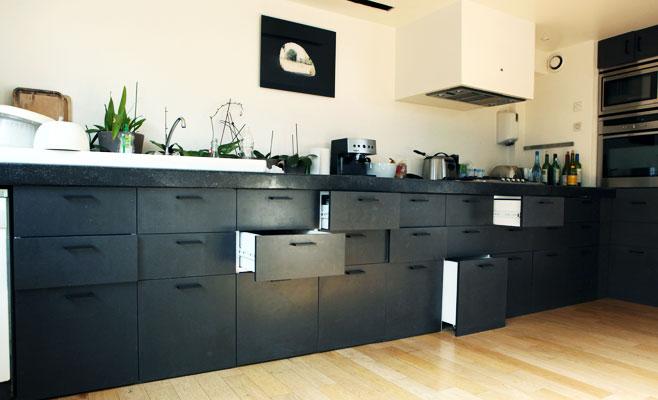 Woodmood meubles for Meuble de cuisine noir laque
